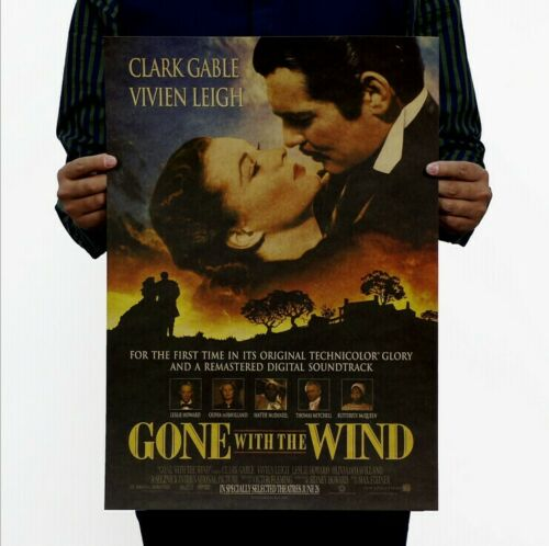 "Paper Poster Vintage Art Wall Decor Old Movie Gone With The Wind 14/""x20/"" Gift"