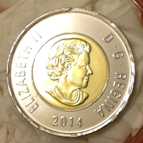 2014 ^Regular Business Strike ^ Toonie From Original Mint Roll ^^^Choice B//U^^^