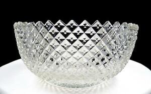 ANCHOR-HOCKING-CLEAR-MISS-AMERICA-LARGE-8-7-8-034-FRUIT-BOWL