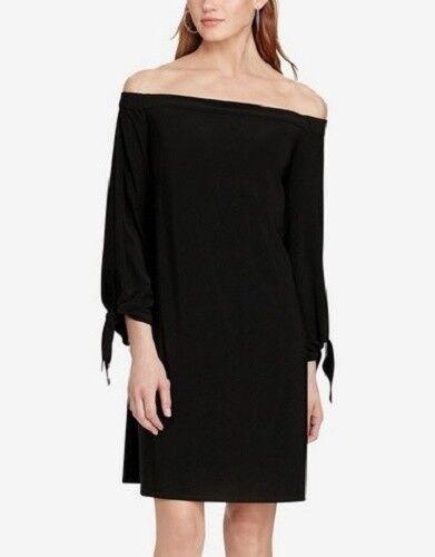stile elasticizzato scoperte Ralph Jersey in spalle americano Living Shift Dress con Lauren w40qZg