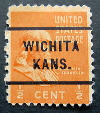 Sc # 803 ~ 1/2 cent Ben Franklin Issue, Precancel, WICHITA KANS.