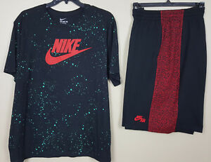 eb85d59ba0a Image is loading NIKE-HAZARDOUS-SPECKLED-SHIRT-NIKE-AIR-SHORTS-OUTFIT-
