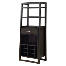 Awesome Monarch Cappuccino 60 Inch Ladder Style Home Bar Cabinet W/ Bar Top U0026 Wine  Rack