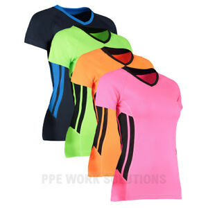 Gamegear-Ladies-039-Cooltex-Training-T-Shirt-Sports-Running-Gym-Cycle-Top-KK940