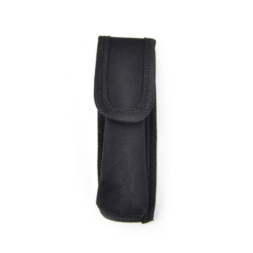 Outdoor black nylon Flashlight Pouch Flashlight Holster Torch Pouch Waist  ~JP