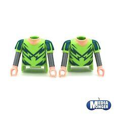 playmobil® 2 x Oberkörper mit Arme | grün | silber Ritter | Piraten | Wikinger