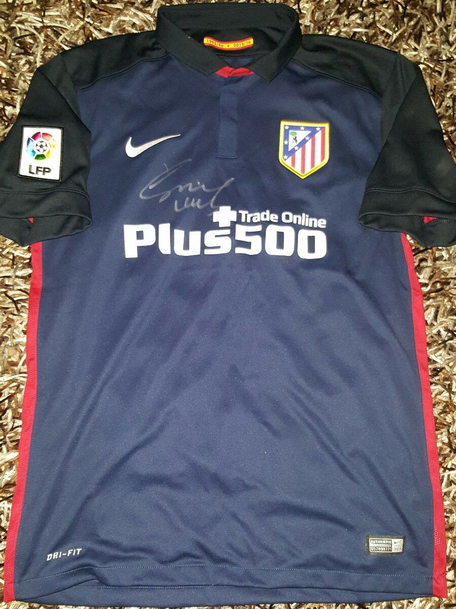 Cholo SIMEONE PROOF Signed shirt Atletico de Madrid Griezmann plataina Zidane
