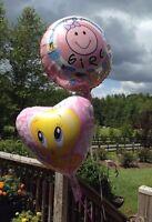 Baby Looney Tunes Tweety Bird + It's A Girl Shower Mylar Foil Balloon Lot 10 Pc