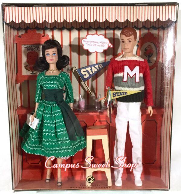 Campus Sweet Shop w/ Midge & Allan Gold Label Barbie Doll Gift Set Excellent New
