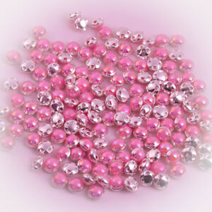 5 X 10MM PINK PEARL SHANK BUTTONS BEADS EMBELLISHMENTS JEWELLERY CRAFT