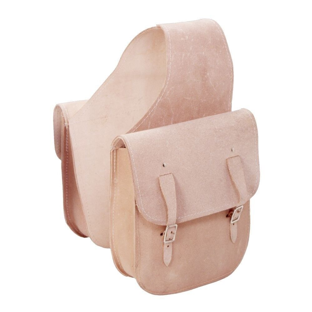 Tough1 RuffOut Leather Saddle borsa 10 borsa with 2 Strap Pockets Natural