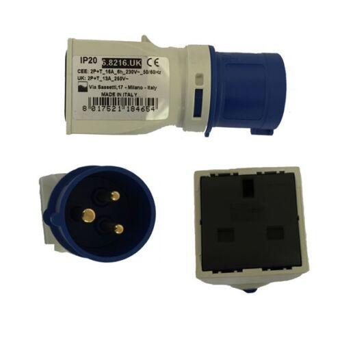 240V 16 Amp Industrial Plug To 13 Amp Domestic Socket Converter/Adapter  68216UK