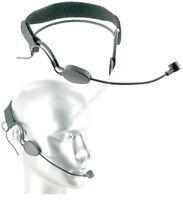 Black Dynamic MIC Headset Headworn Microphone for Shure wireless - XLR 4pin Mini
