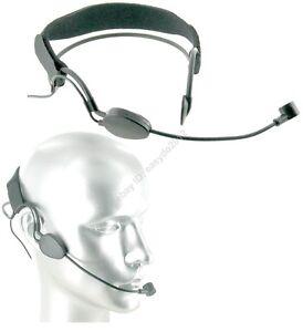 Black-Dynamic-Headset-Headworn-Microphone-for-Shure-wireless-XLR-4pin-Mini-Mic