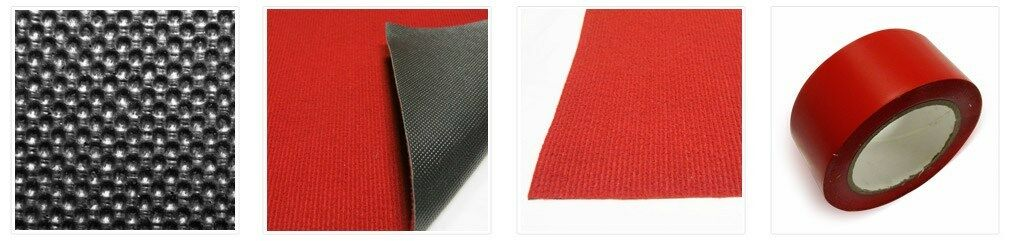 rouge CARPET, rouge VINYL TAPE, EVENT RUGS, 3' X 25', VIP CROWD CONTROL