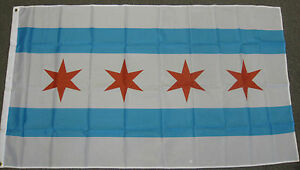 3X5-CITY-OF-CHICAGO-FLAG-NEW-ILLINOIS-IL-BANNER-F608