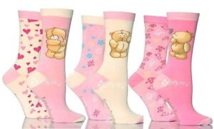 6-Pairs-Ladies-Girls-Cotton-Forever-Friends-Socks-Shoe-Size-4-8-Gift-Teddy