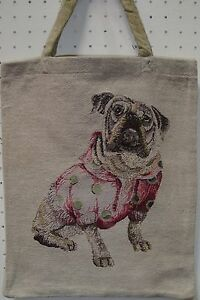 HundeTasche engl. Bulldogge Einkaufs Beutel Einkaufstasche Gobelin Shopper