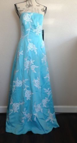 MORGAN &CO blueE GOWN DO NOT MISS SIZE MEDIUM