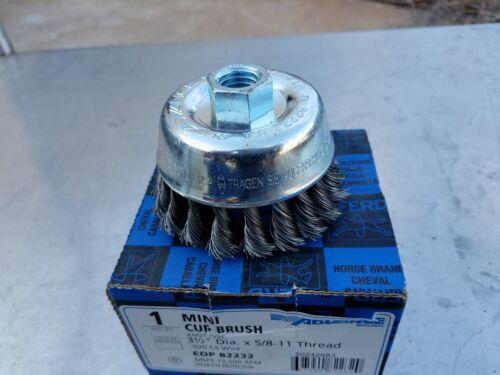 "PFERD EDP 82232 3-1//2/"" x 5//8-11 Knot Wire Mini Cup Brush"