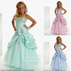 Girls Pageant Dress Birthday Party Flower Girl Dresses Mint Green ...