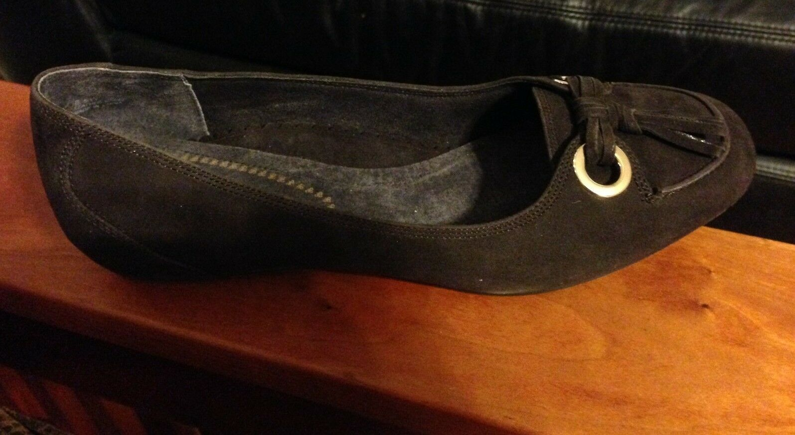 Zapatos Antia Antia Antia Mocha 8.5 w Gamuza Plana 784b28