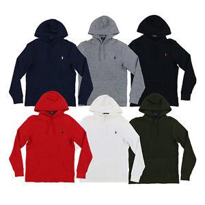 Polo-Ralph-Lauren-Mens-Pullover-Hooded-Waffle-T-shirt-S-M-L-Xl-Xxl-New-Nwt