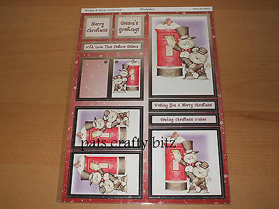A4 Die Cut Hunkydory Topper Sheet Christmas Buttons & Boots Various Designs