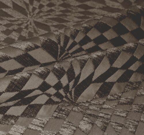 wg06t Gray Brown Geometric Check 3D Box Shape Sofa Seat Pad Cushion Cover*Size