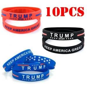 1 President Trump I LOVE TRUMP Heart Purple Silicone Bracelets Wristband