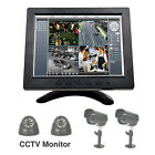 "8"" LCD Color HD PC CCTV TV Monitor Screen VGA/AV/BNC/HDMI/RCA Video Display"