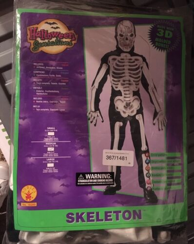 Kids Rubie/'s Official 3D Eva Skeleton Costume Size Med Age 5-7yrs