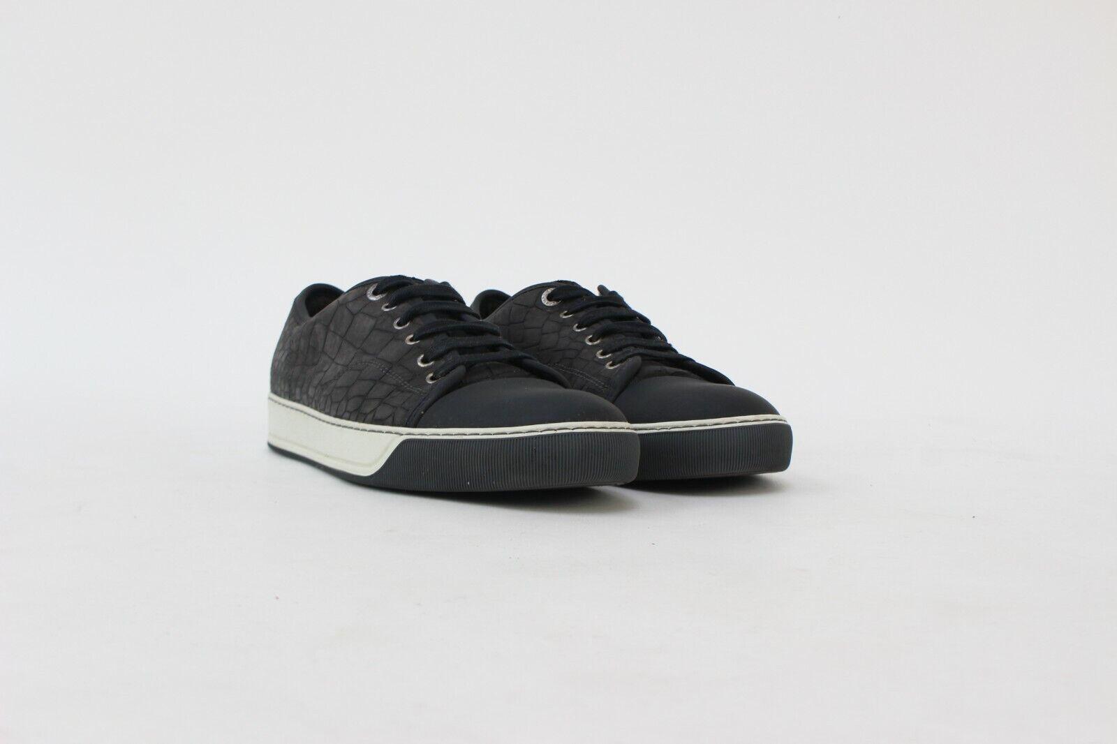 Mens Lanvin Croc Embossed Toe Cap Sneaker Trainer UK 8