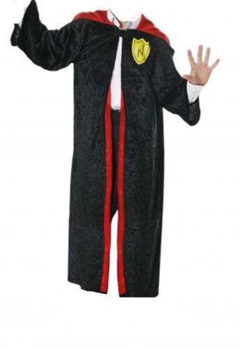 WIZARD BOY GRYFFINDOR FANCY DRESS HOODED ROBE BOOK WEEK HOGWARTS COSTUME 4-12 YR
