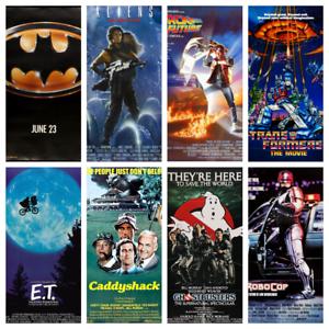 80s Movie Posters Wall Decor Fan Art Photo Film Kids Bedroom A3 A4