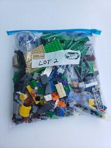 LEGOS-APPROXIMATELY-2-POUNDS-LBS-BULK-LOT-ASST-BRICKS-PIECES-COLORS-USED