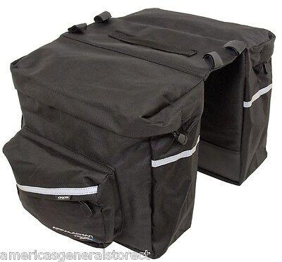 Axiom Appalachian 20L DOUBLE PANNIER rear BICYCLE bike sack black bag