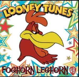 "FOGHORN LEGHORN FRIDGE MAGNET-1, LOGO # 8. 4"" X 4"". LOONEY TUNES....FREE SHIP"