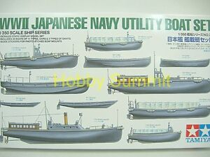 Tamiya-1-350-WW2-Japanese-Utility-Boat-Set-for-IJN-Warship-re-Yamato-78026