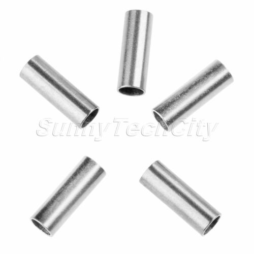 100pcs Single Crimp Sleeve Set Aluminum Alloy Tube Fishing Connector Length 8mm