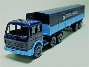 Wiking-1-87-Original-Modell-MB-2632-S-034-Kuehne-amp-Nagel-034-Pritschen-Sattelzug