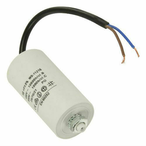 High Quality Universal Capacitor 16uf 16MFD 450VAC with 18cm cable Connectors
