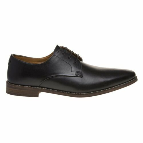 New Mens Red Tape Black Hopton Leather Shoes Flats Lace Up