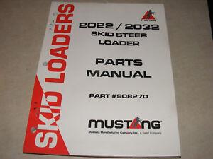 mustang 2022 2032 skid steer loader parts manual catalog list shop rh ebay co uk Case Skid Steer Parts Mustang Skid Steer Wiring Diagram