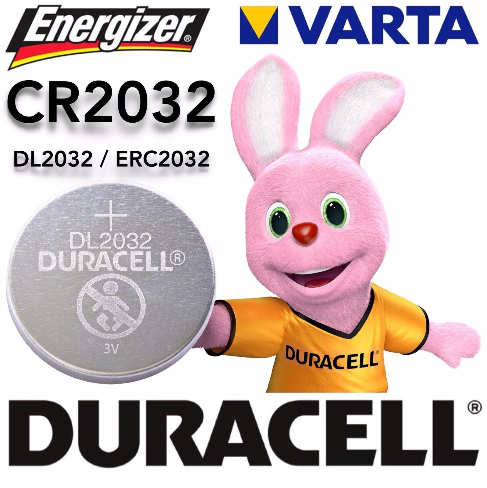 Varta Duracell Energizer CR2032 DL2032 ERC2032 3V Volt  | Angenehmes Aussehen