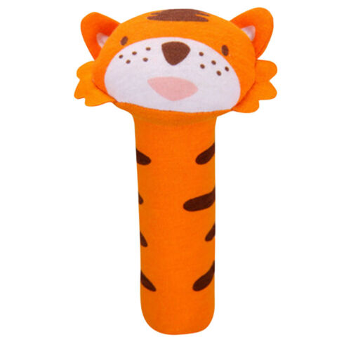 Infant Baby Toddler Animal Toys Sensory Development Rattle Squeaker Soft Plush