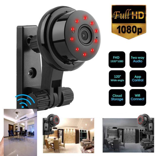 Mini UOKOO Wireless Security IP Camera 1280x720p HD Home Surveillance Black