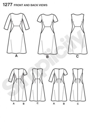 simplic.. Patrón de costura simplicidad Damas 1277 ajuste increíble lado inserción vestidos