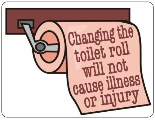 Changer les rouleaux de papier toilette ne sera pas causer de maladie métal signe salle de bains WC Plaque