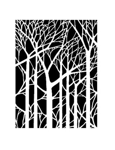 high detail airbrush stencil bare trees FREE UK POSTAGE